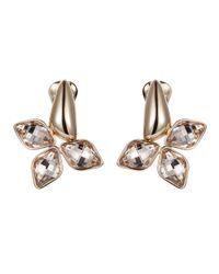 Aurora - Metallic Flower Clip Earrings - Lyst