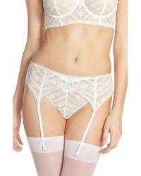 Heidi Klum Intimates - White 'paradise Promises' Bridal Garter Belt - Lyst