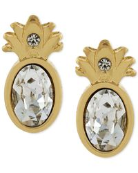 BCBGeneration | Metallic Gold-tone Pineapple Stud Earrings | Lyst