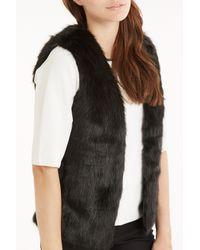 Oasis Black Short Glam Faux Fur Gilet