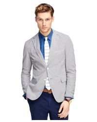 Brooks Brothers | Gray Seersucker Sport Coat for Men | Lyst
