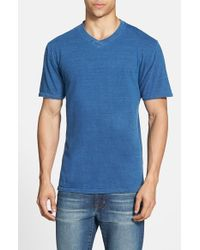 Red Jacket | Blue Indigo V-Neck T-Shirt for Men | Lyst