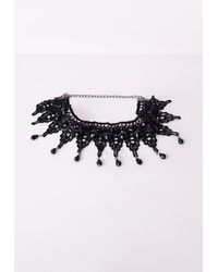 Missguided | Choker Necklace Black | Lyst