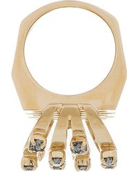 Chloé | Metallic Gold and Swarovski Bianca Ring | Lyst