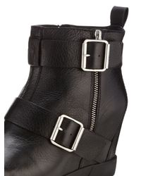 DKNY - Black Hanna Leather Wedge Bootie - Lyst