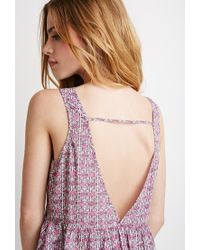 Forever 21 - Pink Tribal Print Babydoll Top - Lyst