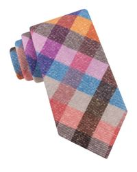 Ted Baker | Multicolor Festive Checkered Wool Tie for Men | Lyst
