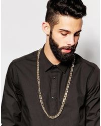 ASOS | Metallic Longline Heavy Chain Necklace In Gold for Men | Lyst
