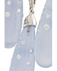 Fred Leighton - Blue 18karat White Gold Chalcedony and Diamond Chandelier Earrings - Lyst
