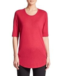 VINCE | Red Shirttail Tee | Lyst