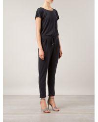 Splendid - Black Open Back Detail Jumpsuit - Lyst
