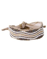 Chan Luu | White Beaded Embroidered Chiffon Bracelet | Lyst