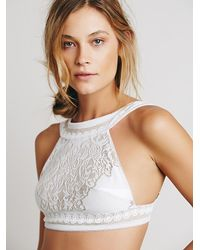 Free People - White Skivvies By For Love & Lemons Womens Pear Blossom Bralette - Lyst