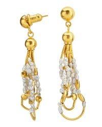 Gurhan - Metallic 24k Gold Pearl Drop Phoenician-style Earrings - Lyst