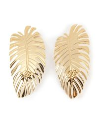 DSquared² - Metallic Palm Leaf Earrings - Lyst