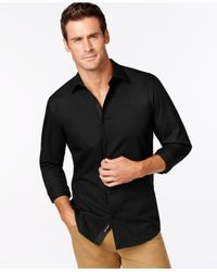 Michael Kors - Black Tailored-Fit Shirt for Men - Lyst