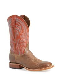 Lucchese | Brown 'alan' Western Boot for Men | Lyst