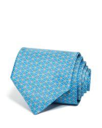 Ferragamo | Blue Gancini And Diamond Classic Tie for Men | Lyst