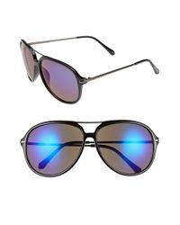Steve Madden - Black 61mm Retro Aviator Sunglasses - Lyst