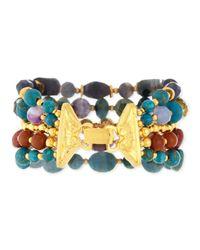 Jose & Maria Barrera | Blue Five-strand Mixed-bead Bracelet | Lyst