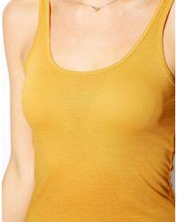 ASOS | Yellow Vest with Scoop Neck | Lyst