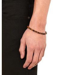 Bottega Veneta | Red Tiger-eye Stone Bracelet for Men | Lyst