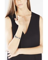 BCBGMAXAZRIA - Black Faux-leather Knot Cuff - Lyst
