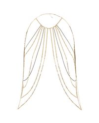 River Island | Metallic Gold Tone Chain Harness | Lyst