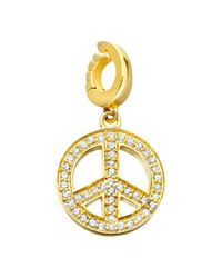Astley Clarke | Metallic Charms 18ct Gold Vermeil Diamond Find Peace Within Charm | Lyst