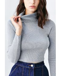 Lucca Couture - Gray Fitted Turtleneck Ski Sweater - Lyst