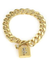 Juicy Couture | Metallic Jc Padlock Chain Bracelet | Lyst