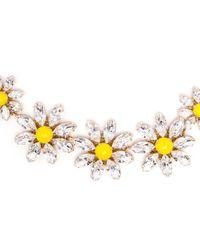 Dolce & Gabbana | Yellow Crystal Daisy Necklace | Lyst