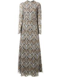 Valentino - Multicolor Macrame Evening Dress - Lyst