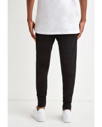 Forever 21 | Black Zippered Moto Sweatpants for Men | Lyst