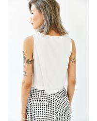 Lucca Couture - White Clean Crossover Tank Top - Lyst