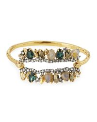 Alexis Bittar | Metallic Elements Fancy I.d. Hinge Bangle Bracelet for Men | Lyst