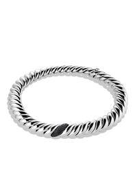 David Yurman | Hampton Cable Necklace With Black Diamonds | Lyst