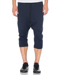 NLST Blue Knit Harem Sweatpants for men