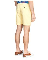 Brooks Brothers | Yellow Canvas Shorts for Men | Lyst