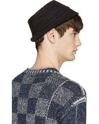 Junya Watanabe | Black Knit Linen Worker Hat for Men | Lyst