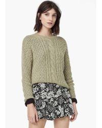 Mango - Black Floral Print Shorts - Lyst