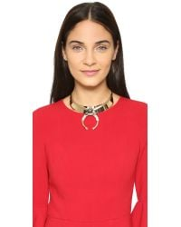 Elizabeth Cole - Belle Necklace - Marble Blue/gold - Lyst