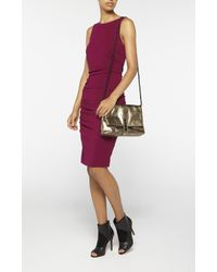 Nicole Miller | Purple Lauren Jersey Tuck Dress | Lyst