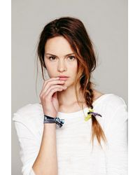 Free People | Yellow Womens Elastic Printed Hair Ties | Lyst