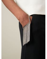 MM6 by Maison Martin Margiela - Metallic Fringed Bracelet - Lyst