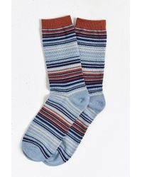 Urban Outfitters | Blue Multicolor Thin Stripe Sock for Men | Lyst