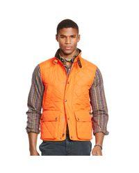 Polo Ralph Lauren - Orange Diamond-quilted Vest for Men - Lyst