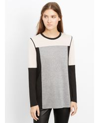 Vince - Black Colorblock Long Sleeve Tee - Lyst
