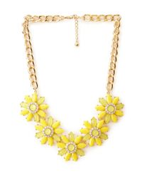 Forever 21 | Yellow Fancy Floral Bib Necklace | Lyst