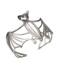 Bernard Delettrez - Metallic Bat Silver Cuff - Lyst